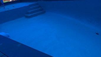 Custom in ground gunite swimming pool and patio
