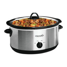 Crock-Pot Oval Manual Slow Cooker, Stainless Steel