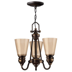 Mayflower Traditional Chandelier, 3 Lights