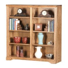"Eagle Furniture Oak Ridge, 48"" Tall, Double Wide Bookcase, Medium Oak"