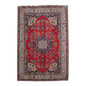 Consigned, Persian Rug, 8'x12', Handmade Wool Tabriz