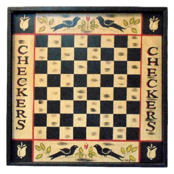Vintage Blackbird Checkerboard Wall Decor - Traditional - Game Room ...