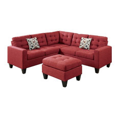 rhodes modular sectional with ottoman red sectional sofas