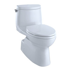 Toto Carlyle II 1G 1-Piece Elongated 1.0 GPF Toilet, CeFiONtect, Cotton White