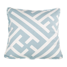 Bhutan Lattice Cushion, Angel Blue, Grand