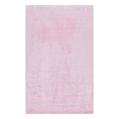 "Drummond Shag Area Rug, Pink, 7'6""x9'6"""