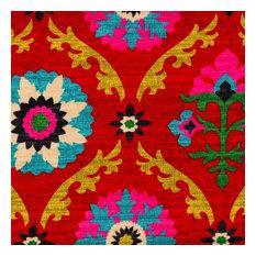 Mayan Medallion Desert Flower Suzani Twin Duvet Cover With Gent Wasabi Reverse