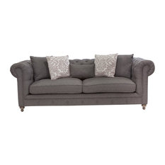 Alice Charcoal Tufted Sofa 104-inch
