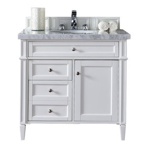 """Brittany 36"""" Single Vanity Cottage White, Base Cabinet Only"""