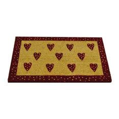 Gardman Valentine Love Hearts Design Coir Doormat