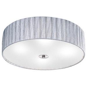 Lucera 4-Light Satin Nickel Flush Ceiling Light