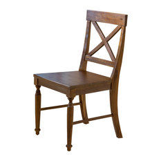 Amazing GDFStudio   Leyden Brown Wood Dining Chairs, Set Of 2   Dining Chairs
