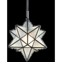 Moravian Style Pendant Lights Modern Star Pendant Lighting, 12'', Textured