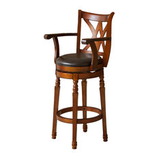 Charmant GDFStudio   Montreal Finish Swivel Bar Stool, Cherry   Bar Stools And Counter  Stools