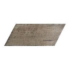 """SomerTile 7.13""""x16.38"""" Retro Naveta Porcelain Floor and Wall Tile, Case of 13, T"""