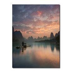 "Indoor/Outdoor Wall D̩cor 'Li River Sunrise' in ArtPlexi, 16"" H"