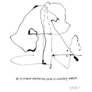 """Be Yourself"" Paper Print by Ylva Skarp, 30x40 cm"