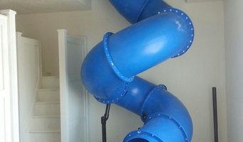 Custom Interior Home Tube Slide