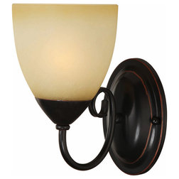 Traditional Wall Sconces by Door Corner