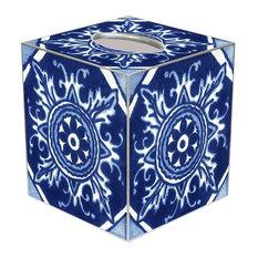 TB8399-Zihuatanejo Talevera Tile Tissue Box Cover