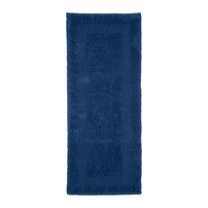 100% Cotton Reversible Long Bath Rug by Lavish Home, Navy