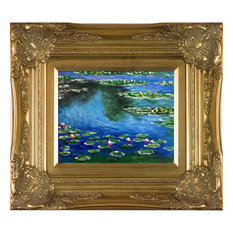 "Monet, Water Lilies, Victorian Gold Frame 8""x10"""