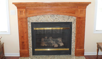 Gas Fireplace, with Custom Mantel and Granite Surround