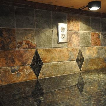 Uba Tuba Granite Countertop and Tile Backsplash