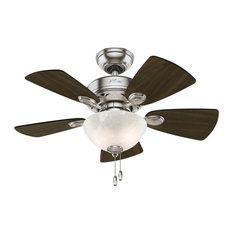 "Hunter 34"" Watson Ceiling Fan with Light 52092 - Brushed Nickel"