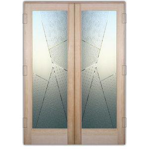 Interior Glass Doors Sans Soucie Art Glass Matrix Angles 3D Pair