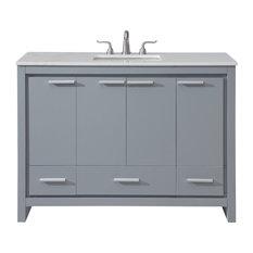 "48"" Single Bathroom Vanity Set, Gray"
