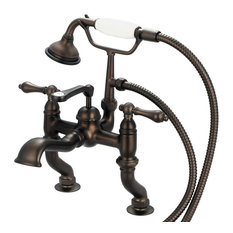 Vintage Classic Deck Mount Tub Faucet With Handshower, Oil Rubbed Bronze Finish