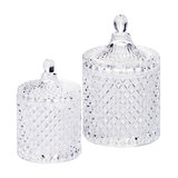 2-Light Vintage Decanter Style Table Lamp Jars Glass, 2-Pice Set