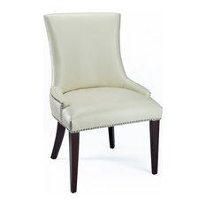 Safavieh Amanda Dining Chairs, Set of 2, Creme Bicast Leather