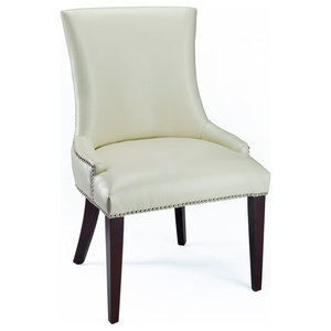 Safavieh Amanda Dining Chairs, Set of 2, Creme Bicast Leather