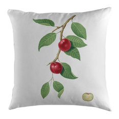 Plum Cherry Botanical Cushion, 45x45 cm