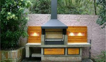 Support barbecue dans un barbecue traditionnel