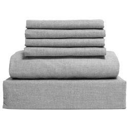 Contemporary Sheet And Pillowcase Sets by LINTEX LINENS INC