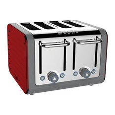 Dualit Architect 4 Slots Body With Panel Toaster, Grey/Apple Candy