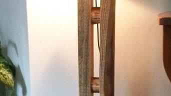 Holz Stehlampe