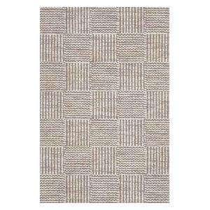 Chess Rug, Light Grey, 140x200 cm