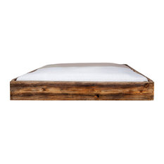 Lussan Rustic Wooden Bed, UK Super King