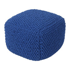 GDF Studio Knox Knitted Cotton Pouf