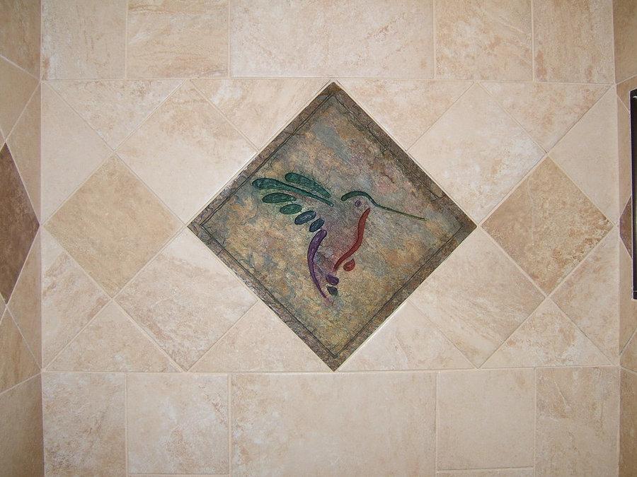 "Bath, Shower & Spa Tiles-""Hummingbird's Wings"""