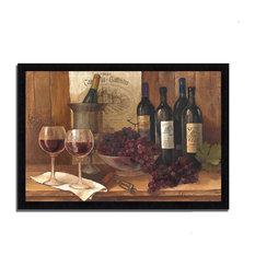 """Vintage Wine"" By Albena Hristova, Framed Painting Print, Ready To Hang"
