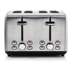 Pro Series 4-Slice Wide Slot Capacity Toaster Stainless Steel