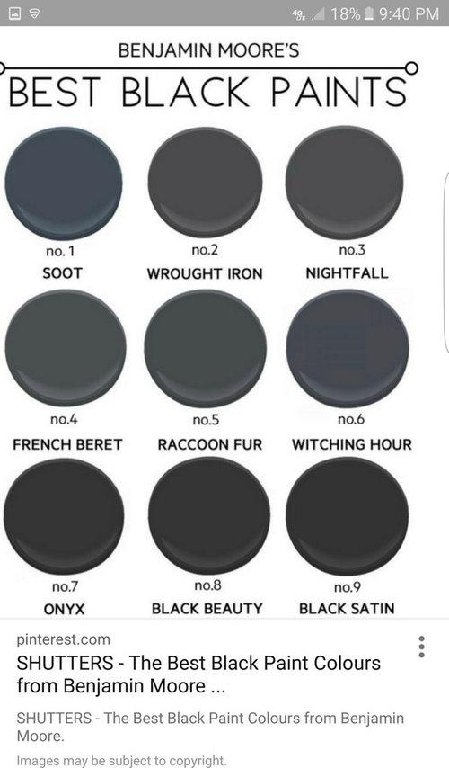 Perfect Dark Blue Gray Exterior Paint