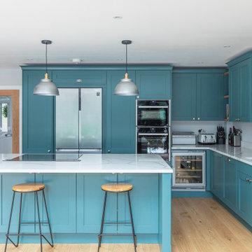 New Green Shaker Kitchen