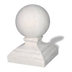 Round Cap Finial, Limestone, 10x10x17
