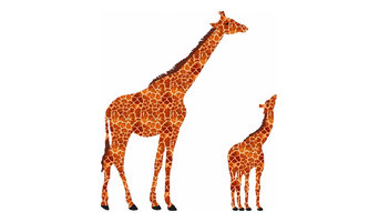 Sophie the Giraffe Textile Wall Sticker, Set of 2